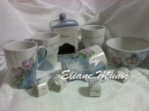 Conjunto chá e capuccino